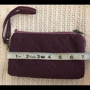 Thirty one plum 3 section wallet